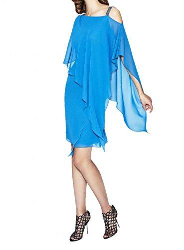 mit Brautmutterkleider Partykleider Braut Abendkleider Festlich La Blau Stola Chiffon Blau Marie 4nxFqwP6fT