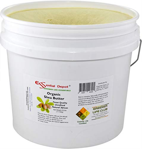 Organic Shea Butter Pail - Unrefined - 25 lbs by Essential Depot (Image #3)