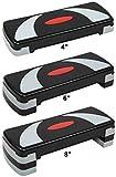 BalanceFrom Adjustable Workout Aerobic Stepper Step Platform Trainer, 4 Removable Raisers Included