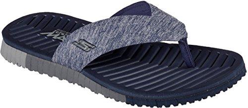 Skechers Uomo Andare Flex Southbay Flip-flop Navy / Grigio