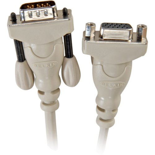 - Belkin 6' Hddb 15 Vga Male To Female Monitor Extension Cable (f2n025-06) -