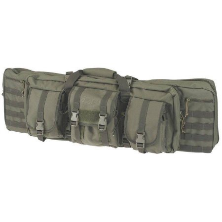 Drago Gear 36-Inch 12-302GR Tactical Gun Case, Made of 600D Polyester with 2 Padded Pistol Pouches, 4 Zippered Storage Areas and 3 Large Pouches, Green by Drago Gear