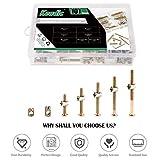 Keadic 100Pcs M6 Hex Socket Head Cap Screws