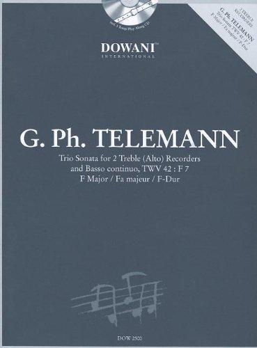 Download Telemann: Trio Sonata in F Major for 2 Treble (Alto) Recorders and Basso Continuo TWV42:F7 pdf