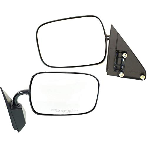 Manual Mirror compatible with Chevy C/K Full Size Pickup 88-95 Right and Left Side Manual Folding Non-Heated Below Eyeline Type Paintable