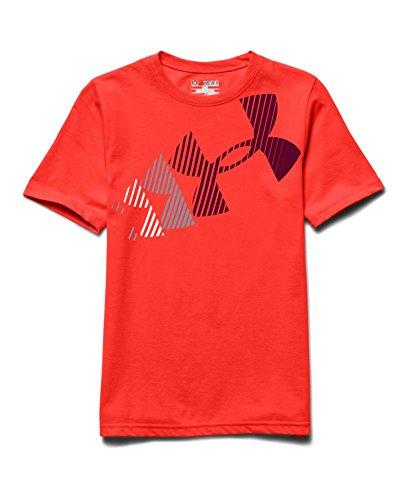 Under Armour Big Boys' UA Break Script T-Shirt Youth Large BOLT ORANGE