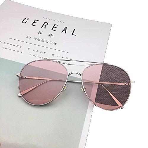 mujeres Shop sol sol 6 sol Gafas Gafas de aviadores Rosado de de y gafas metálicas hombres UUarwBq6