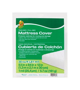 Duck Brand 1140235 Full or Twin Sized Mattress Cover, 53