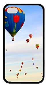 Air Balloons TPU Black Case for iphone 4S/4