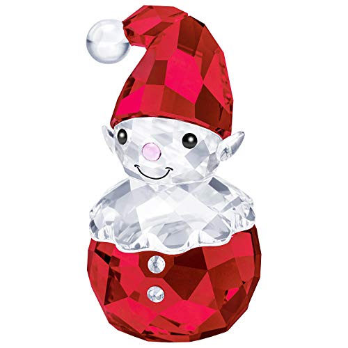 Swarovski Authentic Merry and Festive Joyful Figurines Rocking Elf (Crystal Figurines Christmas)
