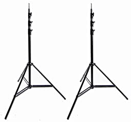 Lot of 2 Ardinbir Photo Studio 10 ft 300cm Heavy Duty Spring Cushioned Studio Light Stands