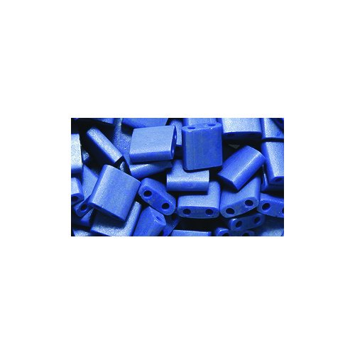 Miyuki Tila Square Two Hole Bead TL2075, 5mm, Opaque Cobalt Matte, 10-Gram/Pack
