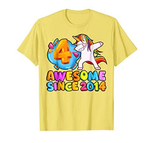 Kids Unicorn Birthday Shirt Cute Dabbing 4th