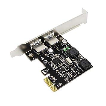 CUHAWUDBA 2 Puertos USB 3.0 Pci-E Tarjeta De Expansión ...