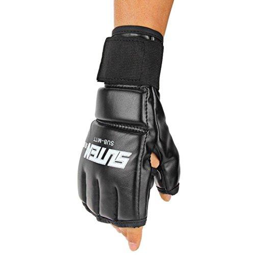 Binmer(TM) Cool MMA Muay Thai Training Punching Bag Half Mitts Sparring Boxing Gloves Gym ()