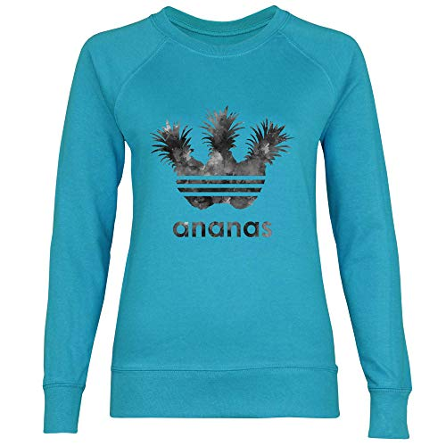 Foncé Sporting Femme Royal Ananas Shirt Azure Sweat Blue Gris XRXvSnY