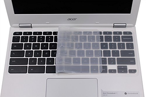 Clear Keyboard Cover for Acer Chromebook R11 CB3-131 CB5-132T/Acer Premium R11/Acer Chromebook R13 CB5-312/Acer Chromebook 14 CB3-431 CP5-471, Acer Chromebook 15 CB3-531/532 CB5-571 C910 (Transparent)