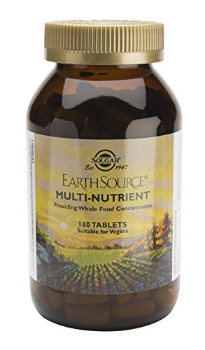 Solgar - Earth Source Multi-Nutrient Tablets Providing Whole Food Concentrates, 180 Tablets - Nutrients 180 Tablets
