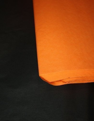 HALLOWEEN orange & black tissue paper 25 sheets of each=50 sheets in total! 20x30 inch