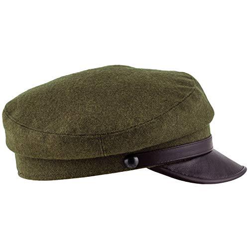 "Sterkowski ""Maciejówka Model 4"" Cap Leather Visor US 7 1/4 Green Khaki/Brown"