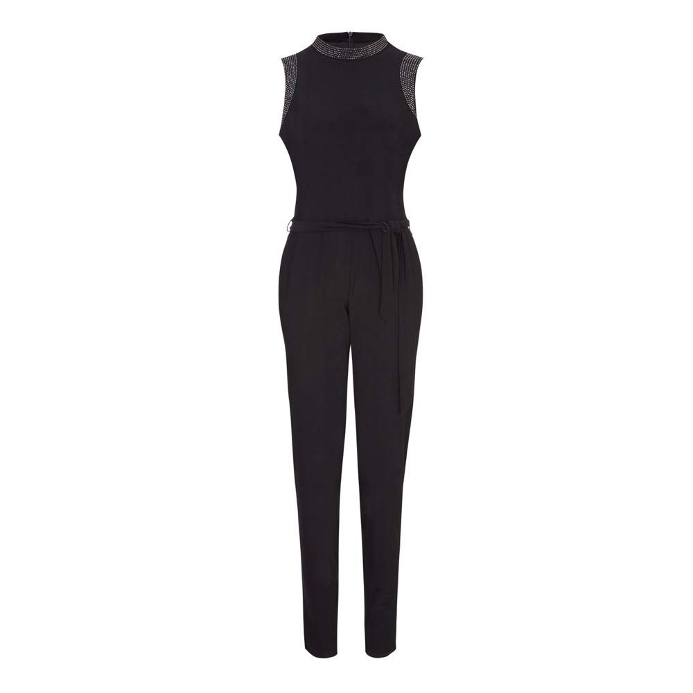 Ex Wallis  Black Embellished Jump Suit, Size 6