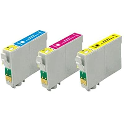 Amsahr T1261 Remanufactured Replacement Epson Ink Cartridges for Select Printers/Faxes - 3 Pack, Color