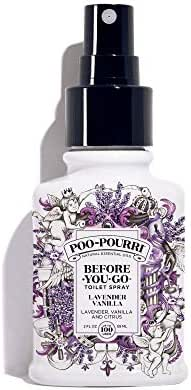 Poo-Pourri Before-You-Go Toilet Spray 2 oz Bottle, Lavender Vanilla Scent