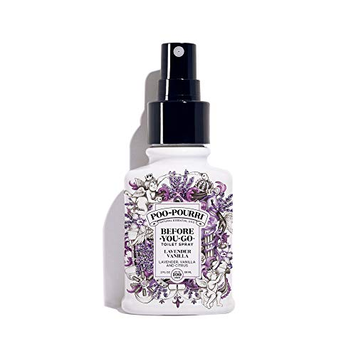 Poo-Pourri Before-You-Go Toilet Spray 2 oz Bottle, Lavender Vanilla Scent -