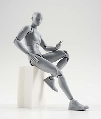 2 Stück Set NIB SHFiguarts He She Body Action Figure Figur KUN+CHAN DX GRAU VER