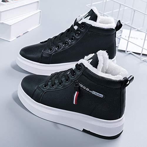 Corto Y Black Invierno Gruesas Zapatos Antideslizantes Nieve Para Algodón Mujer Tubo Botas De Terciopelo 8nXqpwOf