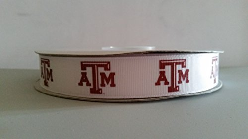 "7/8"" Texas Grosgrain Ribbon (Aggies)"
