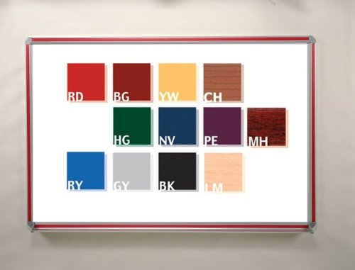 Magnetic Porcelain Markerboard with Insert 48'' x 36'' Aluminum Frame/Red Insert