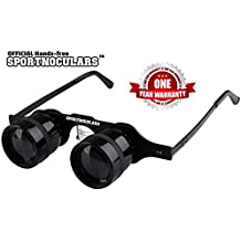 SPORTNOCULARS-Hands-Free 3 x 34 mm Binocular Glasses for Sports & Concerts,Theater,TV Magnifiers,Fishing,Sight Seeing,Wildlife Observation,Surveillance and so much more.