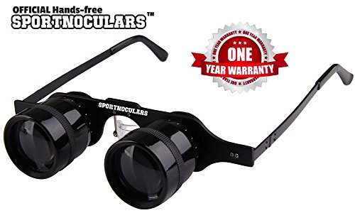 SPORTNOCULARS-Hands-Free 3 x 34 mm Binocular Glasses for Spo