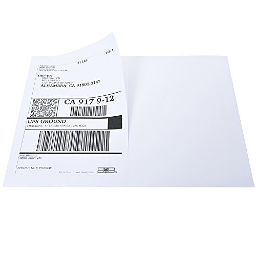 Mflabel half sheet self adhesive shipping labels for laser for Half page labels