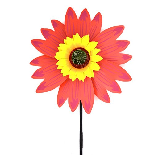 Pinwheels,Lawn Pinwheels Sunflower Shaped Windmills for Kids Garden Party Toy 5 Pack,Assortment