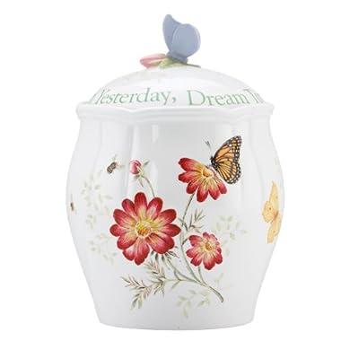 Lenox Butterfly Meadow Sentiment 9.5  Cookie Jar