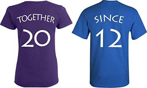 [YOUR DATE - 2012 or else] - Together Since Matching Couple Anniversary Shirts - - Date For Ideas Valentines