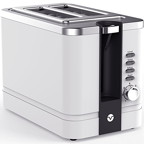 Vremi Toasters Toaster Slice Stainless Steel Retro For