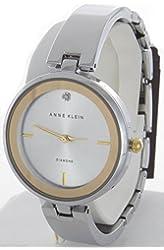 Anne Klein Women's Silver Dial Bangle Bracelet Quartz Watch AK/1725SVTT