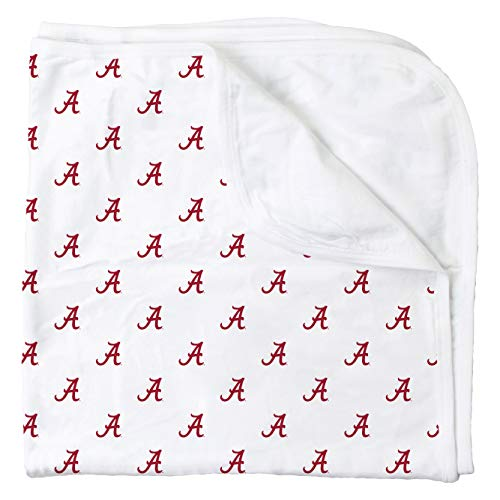 (Wes and Willy Alabama All Over Print Baby Blanket, Crimson Tide Logo)