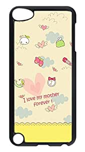 Brian114 Case, iPod Touch 5 Case, iPod Touch 5th Case Cover, I Love My Mother Forever Retro Protective Hard PC Back Case for iPod Touch 5 ( Black )