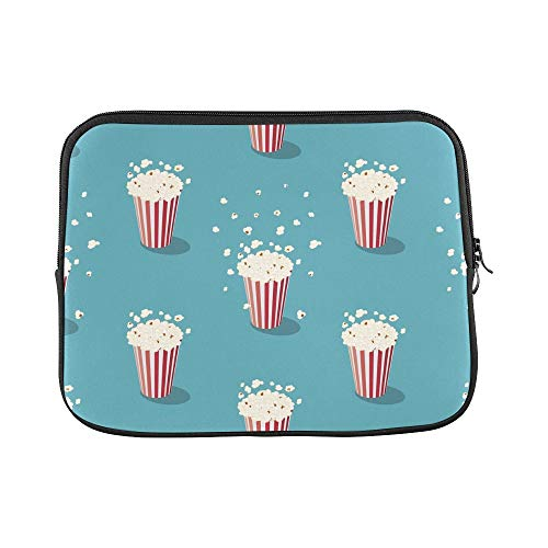 Design Custom Retro Style Popcorn Art Image Cinema Cinema Theme Classical Design Sleeve Soft Laptop Case Bag Pouch Skin for MacBook Air 11
