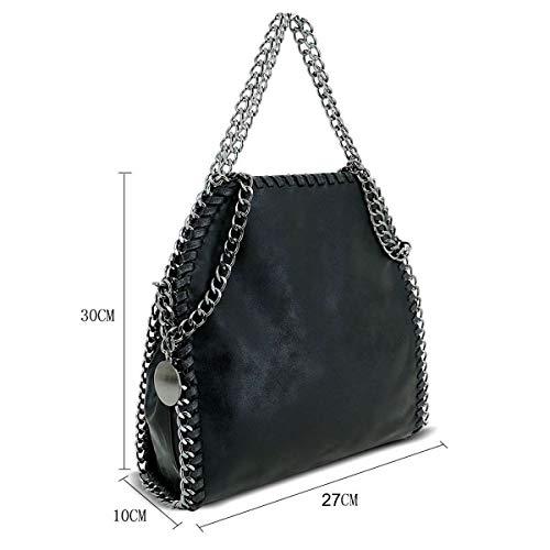 Fashion Mini Black Shoulder Bazaar Designer Womens Bag Stella Strap Crossbody Metallic Chain Handbag Style UYrY6xwq