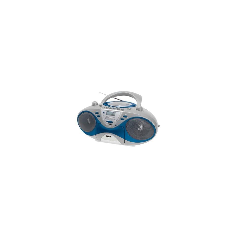 Naxa NX239 Portable CD AM/FM Stereo Radio Cassette Player/Recorder  Silver