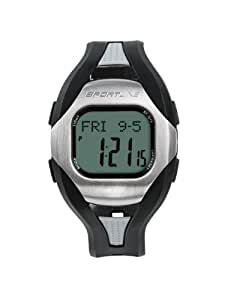 Sportline Men's Solo 960 Any Touch Step & Distance Pedometer Heart Rate Monitor Watch