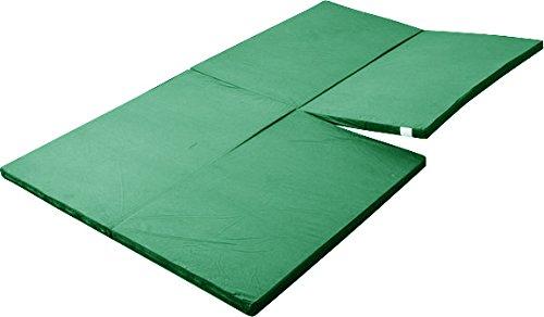 エムール 高反発 4つ折りマットレス ダブル グリーン B009BZCVDE グリーン