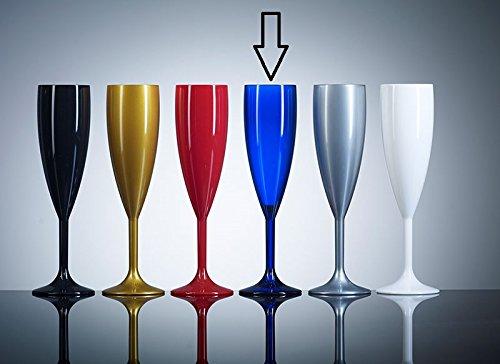 policarbonato pr/ácticamente irrompible/ Azul Pl/ástico policarbonato copas de champ/án 12/unidades catering calidad pl/ástico cristal/ 6.6oz /reutilizaci/ón de veces /resistente de la