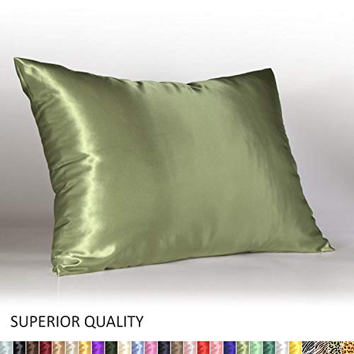 - Shop Bedding Luxury Satin Pillowcase for Hair - Queen Satin Pillowcase with Zipper, Sage (1 per Pack) - Blissford