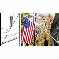 www.usflags.com Tangle Free Spinning Pole -White Pole, Gold Ball TOP